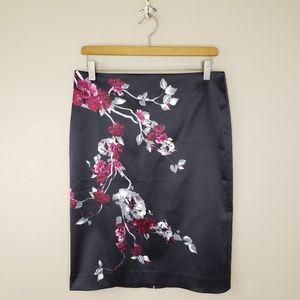 WHBM | Shiny Floral Pencil Skirt